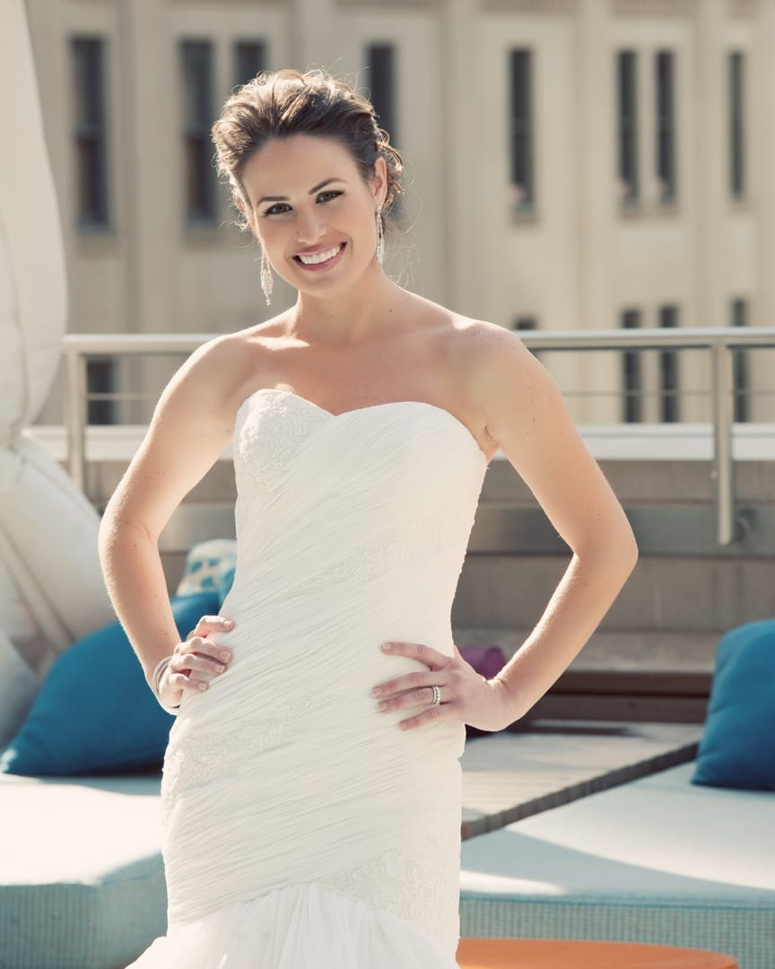 Dallas Joule Hotel Bridal Portrait
