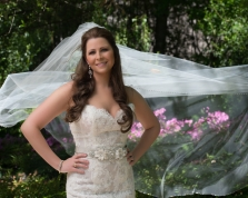 Fort Worth Botanical Gardens Fuller Garden Bridal Portrait