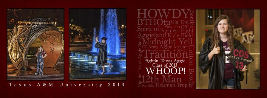 Texas A&M University Graduation Announcement