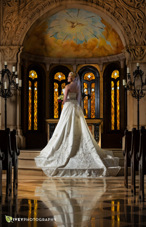 The Bella Donna Chapel in McKinney Bridal Portraits by Ivey Photography Dallas Wedding Photographer