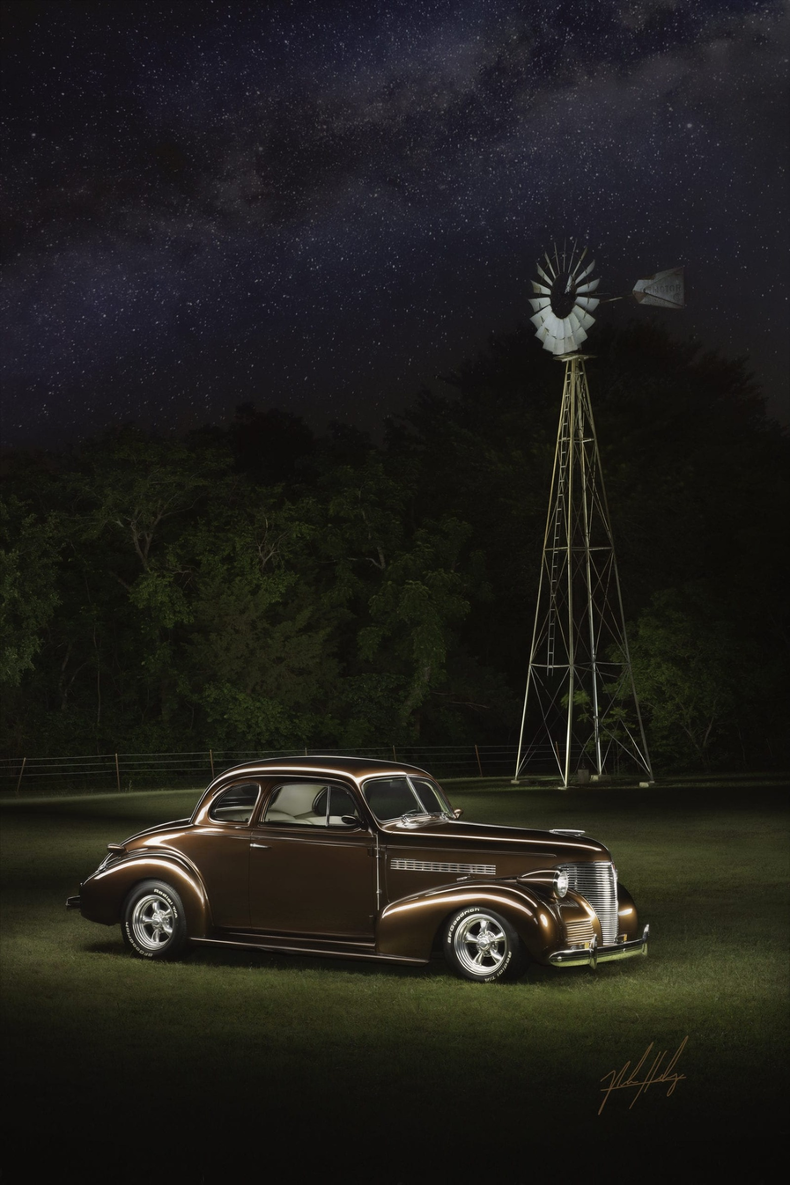 Car Photography Light Painting Classic Car Collector Car