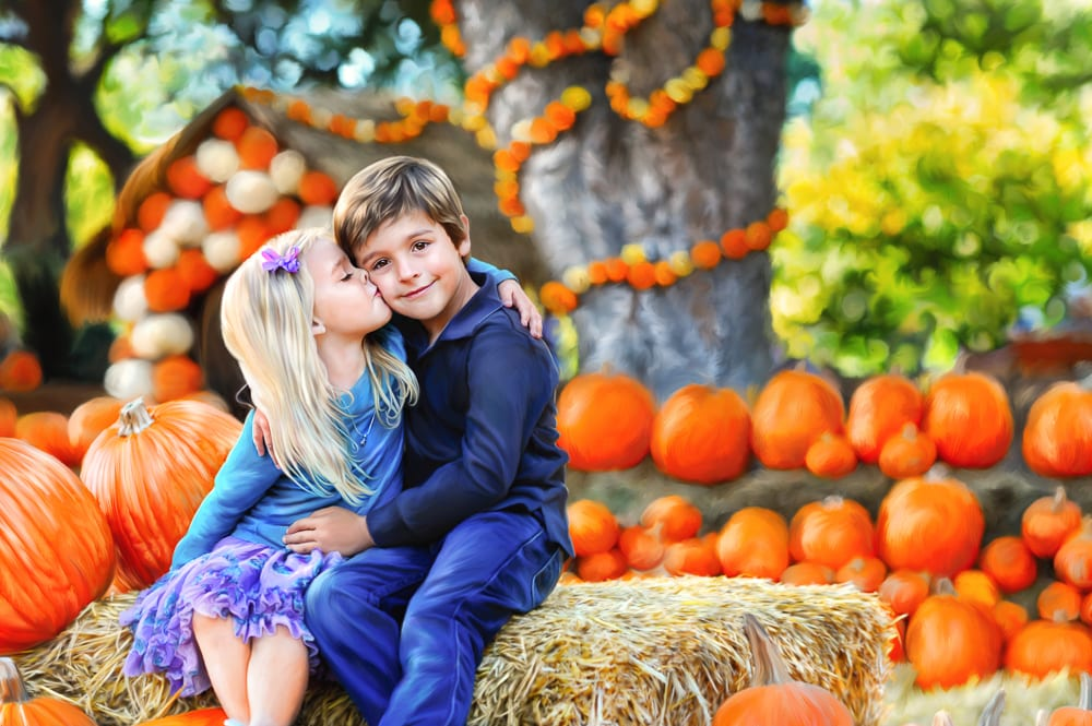 Fall family portraits at Ivey Photography Shadow Creek Pumpkin Farm Midlothian TX