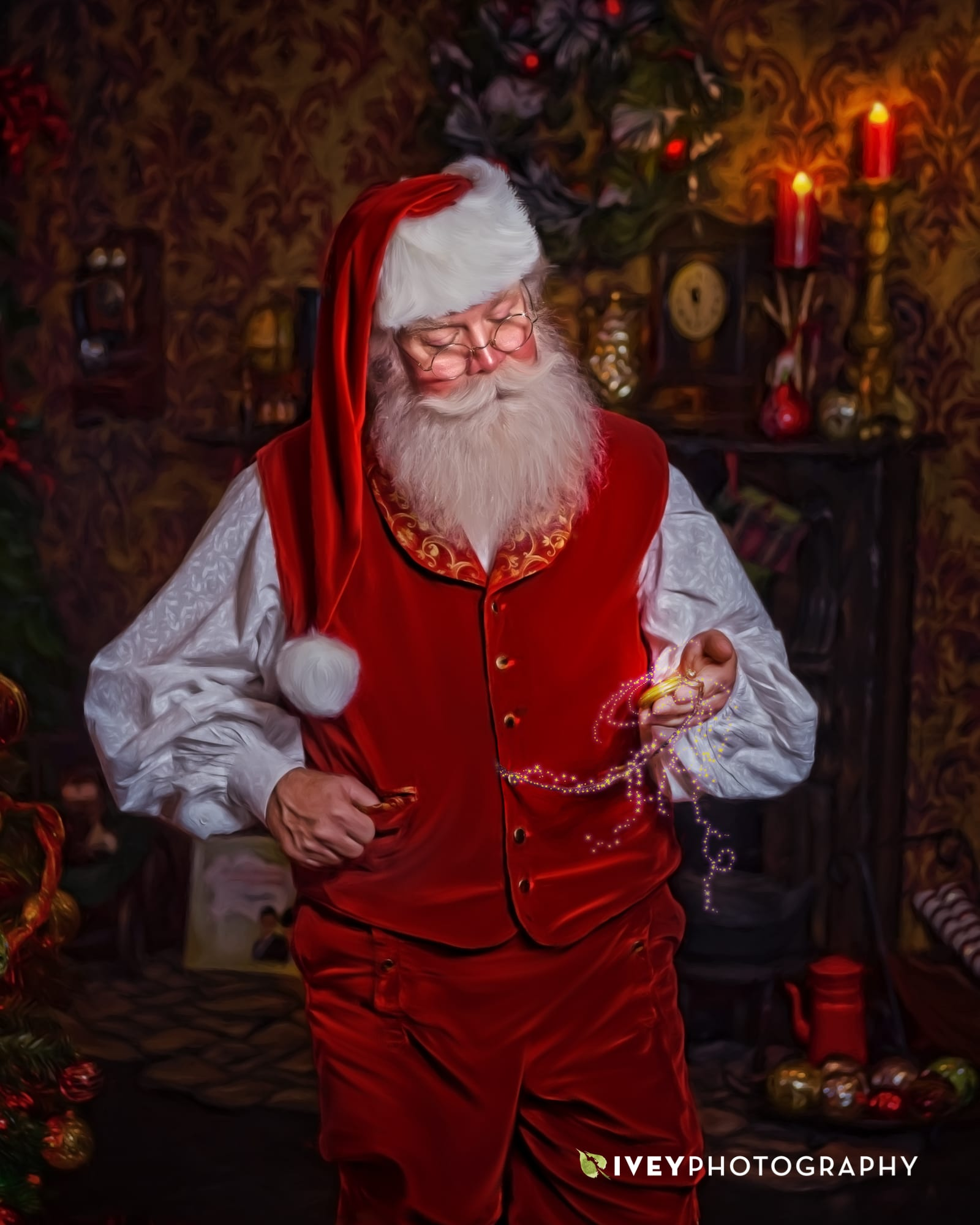 Santa Chuck Lee in The Storybook Santa Experience at Ivey Photography
