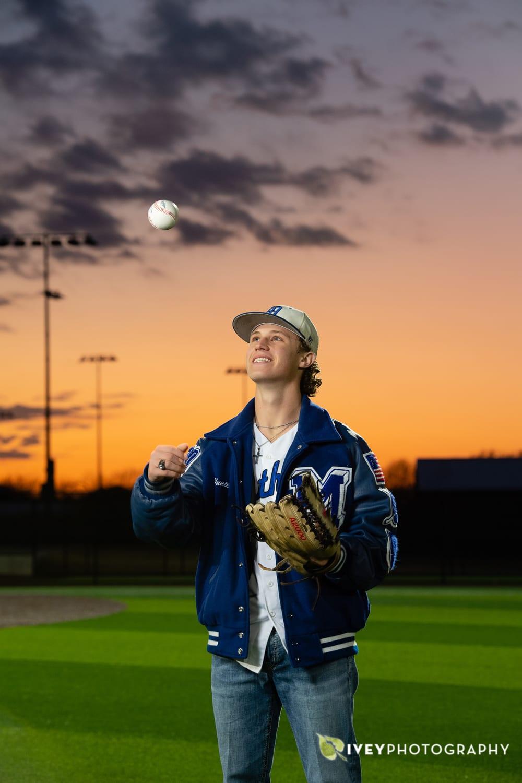 High School Baseball Senior Portrait Poses for Guys