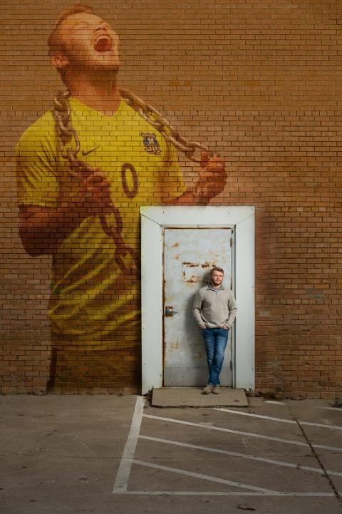 Senior Pictures Midlothian High School Soccer Portraits Urban Area